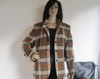 Vintage Baronia from Golla Plaid jacket wool wool jacket M/L