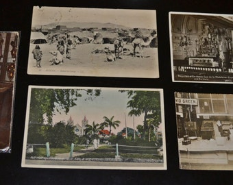 5 Vintage, Antique Postcards, Photos