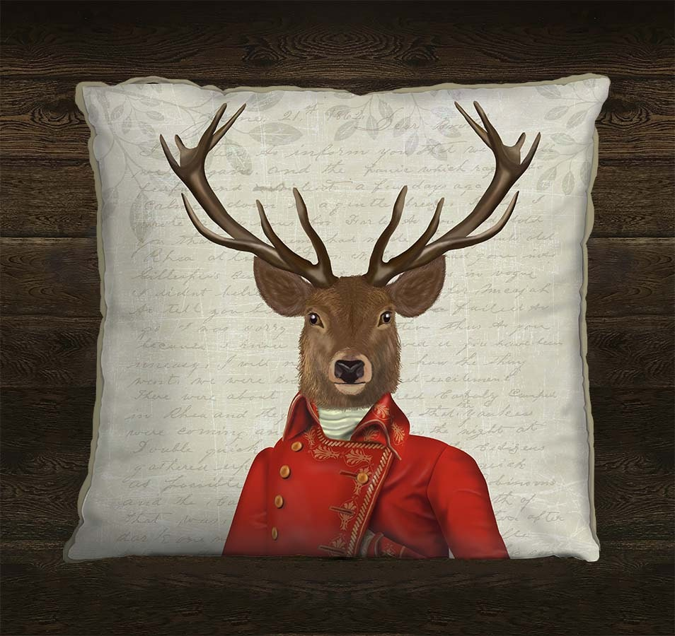 Decorative Pillows Deer : Stag pillow cover Deer cushion cover Deer Decor Deer pillow