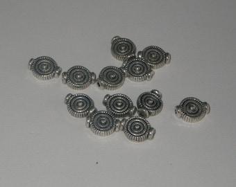 Connectors circles silver 12 pieces
