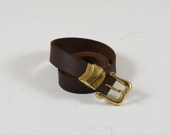 Handmade belt with forged brass: 4MSKD