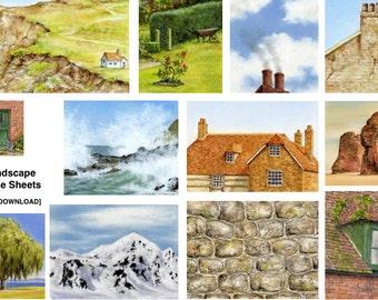 12 Landscape Exercise Sheets