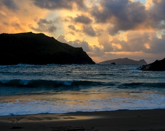 Sunset on Clogher beach Dingle Kerry Ireland