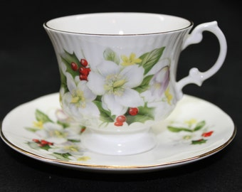 Royal Victorian Fine Bone China Tea Cup & Saucer – Made in England