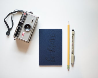 Small CUSTOM Lettering -  Notebook - Moleskine - Hand Painted Journal - The BE Collection