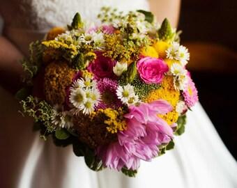Beautiful handtied wedding bouquet