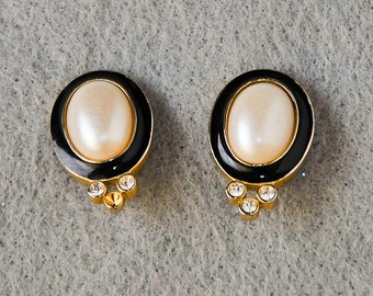 Black, Gold, and Pearl Studs