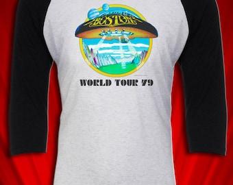Boston Vintage Tee Tour Concert T-shirt Rock n Roll Band