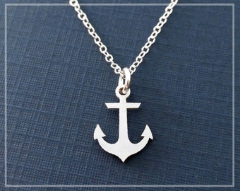 Anchor Necklace, Sailing Necklace, Hope Anchors My Soul Necklace, Sterling Silver Nautical Anchor Jewelry I Refuse To Sink