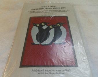 Penguins, Creative Fashion Applique Kit Sew Elegant Fashions 1988