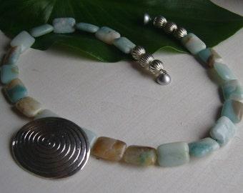 Necklace - necklace Amazonite - snail