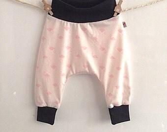Baby flamingo harem trousers