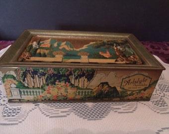 Vintage Art Deco Artstyle Chocolate Tin 1920s, (# 530/19)