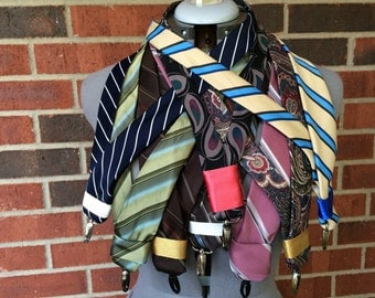 Upcycled necktie lanyard