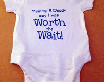 Baby Body Suit - Worth the Wait // New Baby Gift // Babygrow