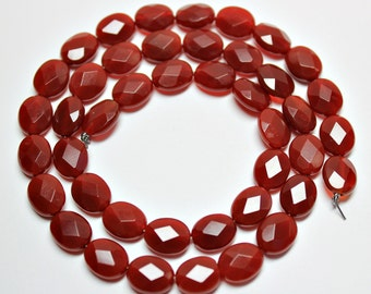 Carnelian Faceted Oval Loose Beads