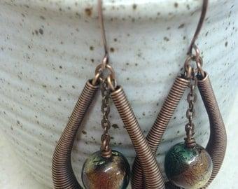 Copper Spring Earrings