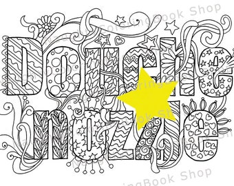 Douhe Nzzle Swear Words Printable Coloring Pages Word