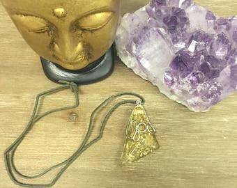 Yellow Amber stone pendant