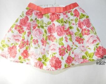 Vintage Style Flower Skirt, Vintage Baby Girl, 18 months, Summer Baby Girl skirt, Baby, Baby Girl, Infant Vintage