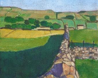 Wensleydale II - Landscape painting in oil