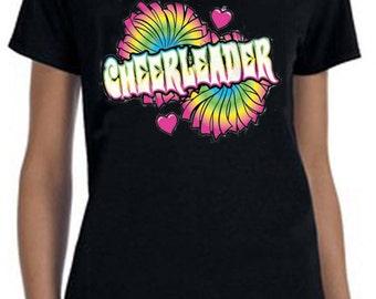 Cheerleader Cheer Tee-Shirt, Cheerleader Shirt, Gifts For Her, Gifts For Christmas, Cool Tee Shirts