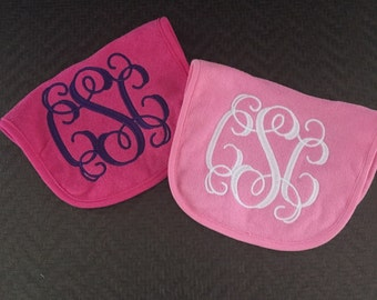 Monogram Bib Set - COLORED
