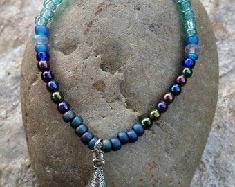 Beachy Blue Mixed Bead Bracelet