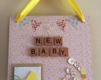 New Baby plaque
