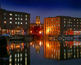 Liverpool Albert Dock And Cathedral
