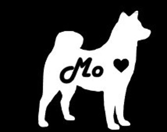 Akita Car Decal, Akita Decal, Dog Car Decal, Pet Car Decal, Laptop Decal