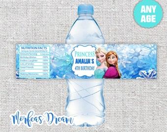 Frozen Water Labels Printable