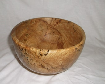 spalted beech bowl