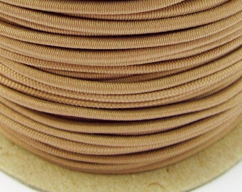 5, 10, 50 m rubber cord beige 2 mm