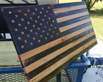 Oak American Flag