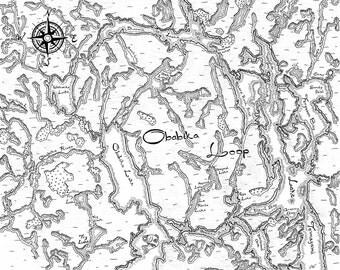 Obabika Loop Canoe Route Map, Temagami, Ontario