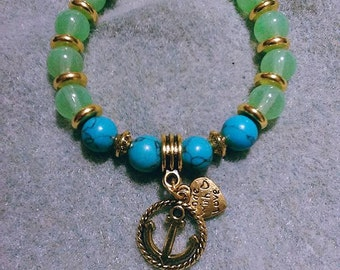 Bracelet with anchor charm