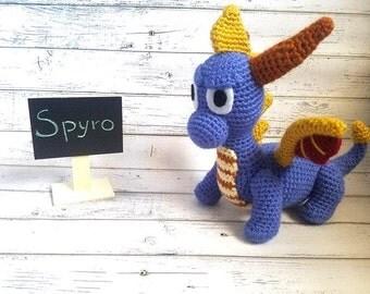 Dragon plush | Spyro amigurumi | Spyro the dragon | Spyro plush | Dragon party | Dragon amigurumi | Purple dragon | Spyro plushie | Dragon