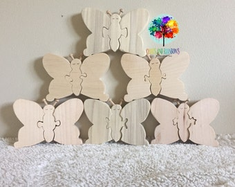 READY TO SHIP Butterfly Stacker puzzle set