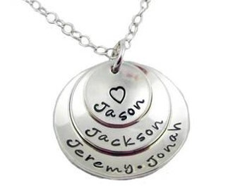 Layered Mommy Necklace {Sterling Silver}