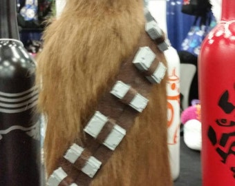 Chewbacca inspired decorated wine bottle
