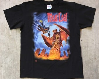 "Vintage 90s Meat Loaf ""Everything Louder Than Everything Else"" Tour Tee Shirt"