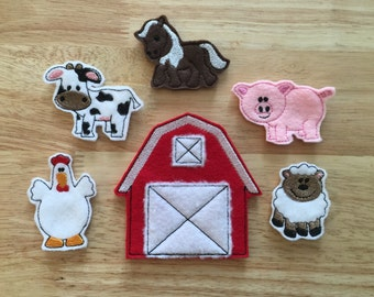 Farm Animal Finger Puppets