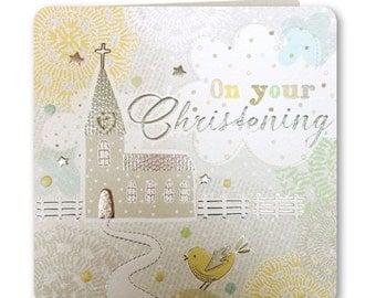 Christening - Christening Card - Baby - Baby Christening - New Baby - Boy - Girl