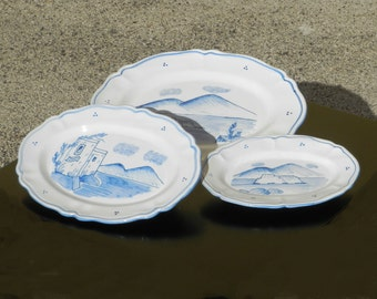 Scalloped dish (large, medium and small)