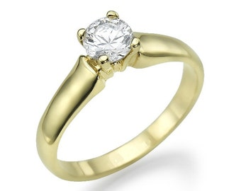 Gold Ring 14 k diamond out of beautiful 0.40 CT