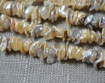 wholesale Cornflake Pearl,DIY freshwater pearl necklace,Keshi pearl,color pearl,loose pearl beads 8.5-10mm 140pcs wedding Full Strand LY3032