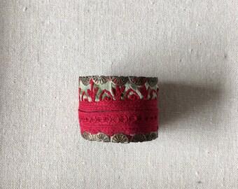 Embroidered bracelet