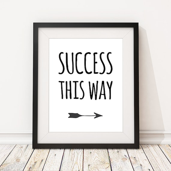 Inspirational Quotes About Failure: Motivational Print Funny Office Quotes 'Success This