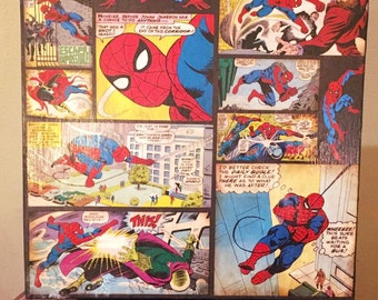 Spider-Man Canvas 12 x 12